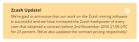 Genesis Mining、Zcashのハッシュレートを25%増量!