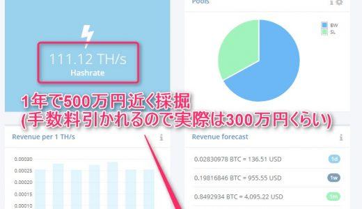 ハッシュフレアに120万円追加投資した人の末路!それでも1年で500万円相当採掘!